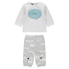 0dad1f248c967 Ensemble avec tee-shirt en double jersey et pantalon print ourson