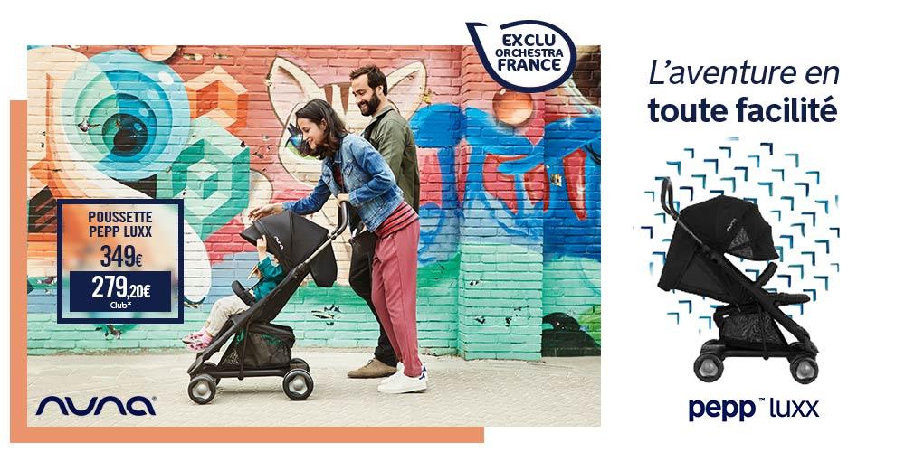 Découvrez Nuna, marque puériculture en vente exclusivement chez Orchestra - offre promenade poussette