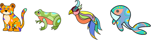 Découpe et coloris les petits animaux